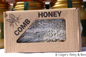 Local honey on the comb