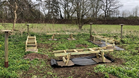 New hive stands installed at Burnham Apiary
