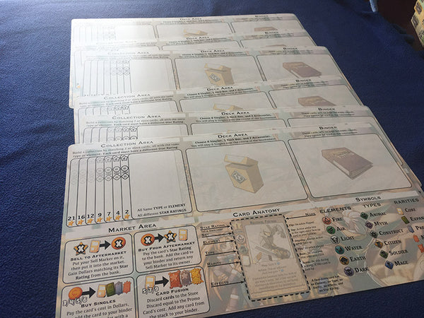 Six New Player Boards in Millennium Blades Collusion