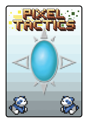 Pixel Tactics Back Blue