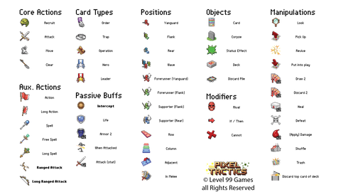 Pixel Tactics Icon Reference Card