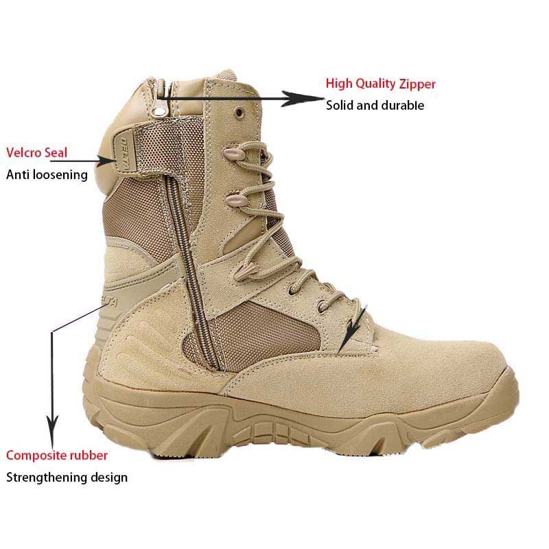 sand tactical military boots