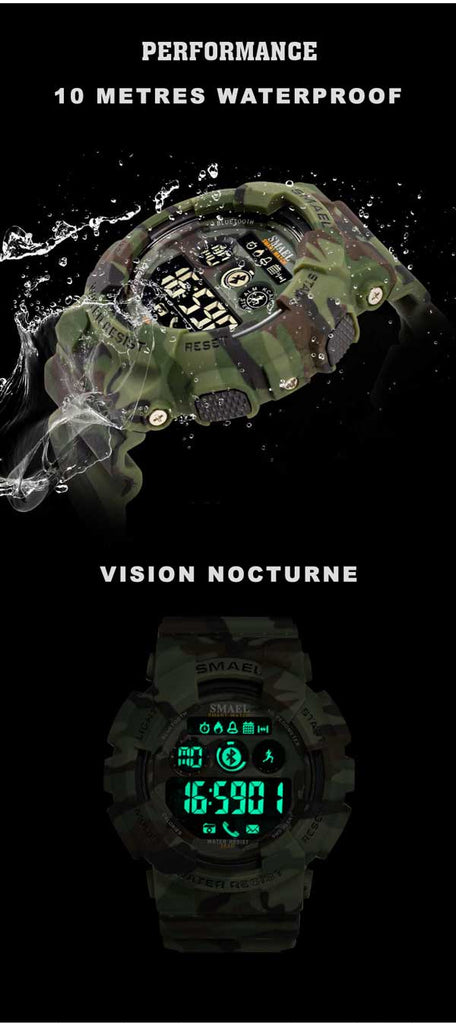 Camouflage military watch