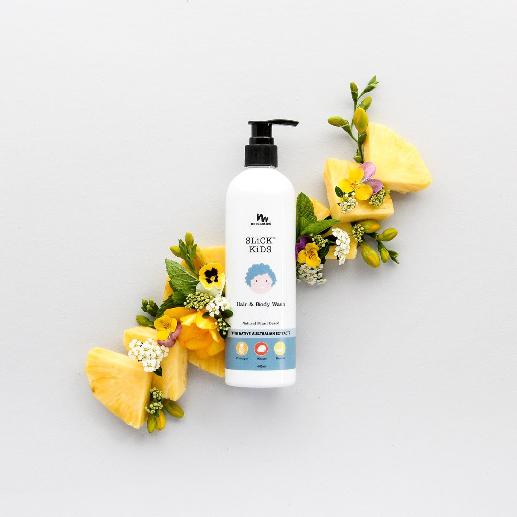 SLiCK KiDS Natural Plant Based Hair And Body Wash In Mango And Pineapple