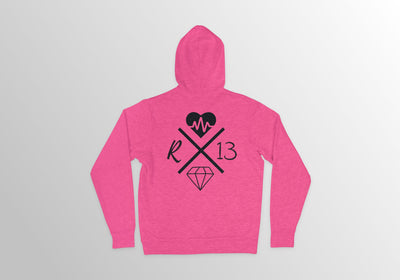 DAMNAGE DONE HOODIE - PINK LIMITED EDITION