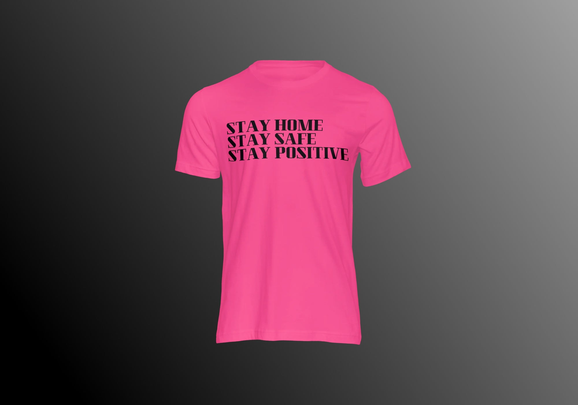 STAY HOME PINK TEE