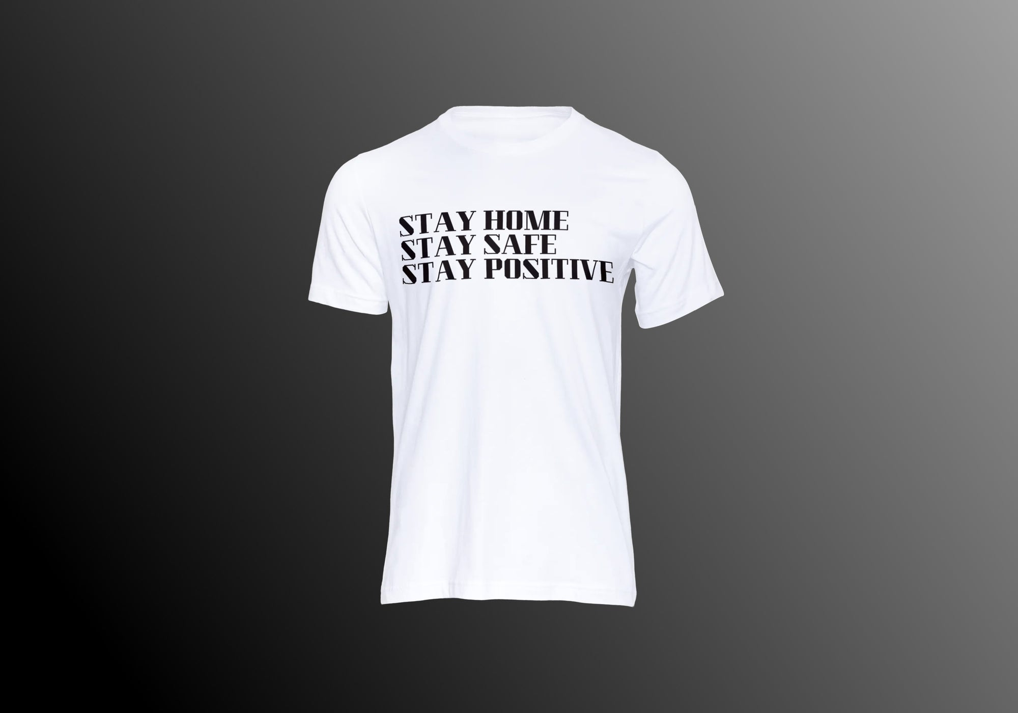 STAY HOME WHITE TEE