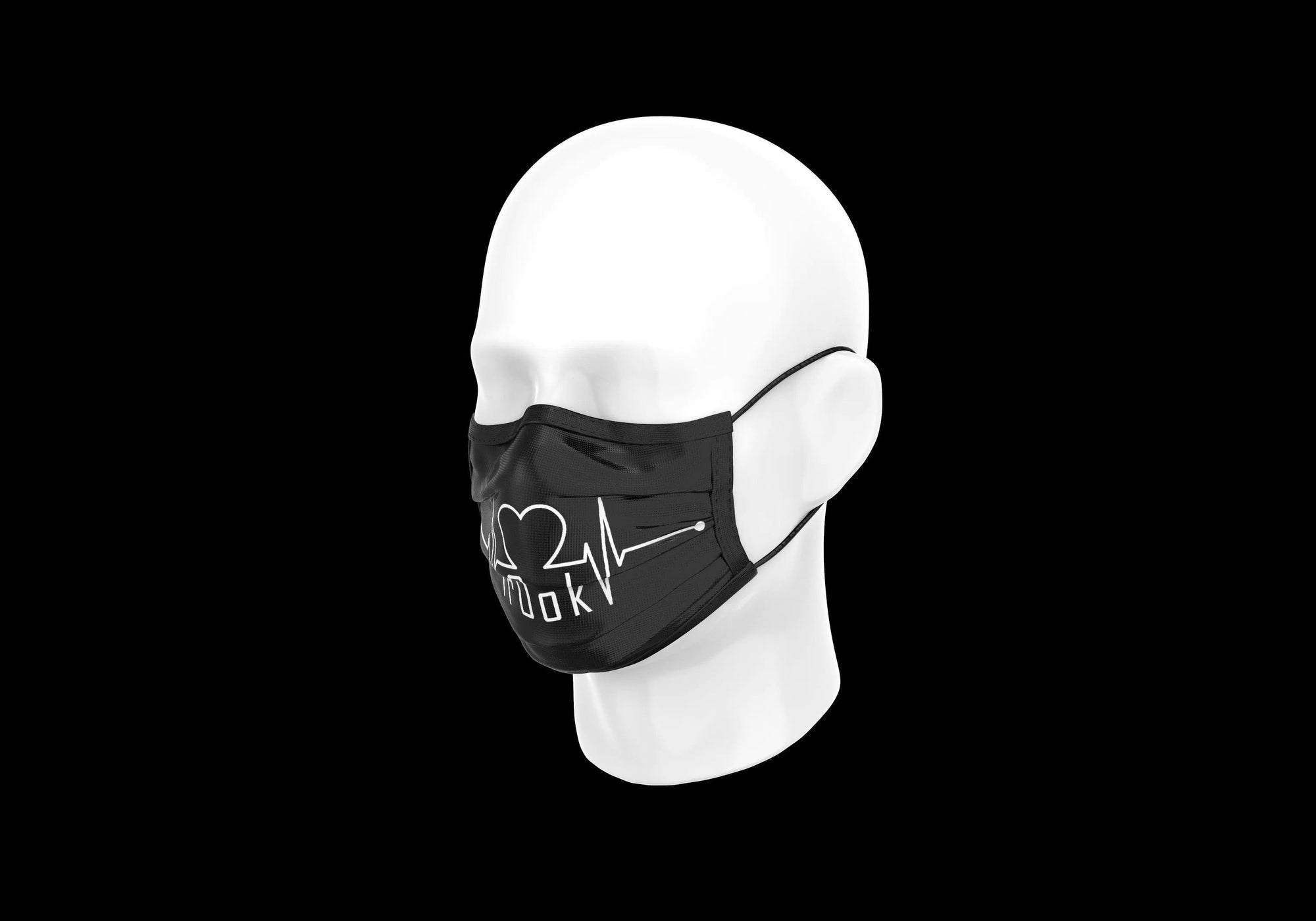 r0ok-clothing-co r0ok<3 MASK - BLACK.