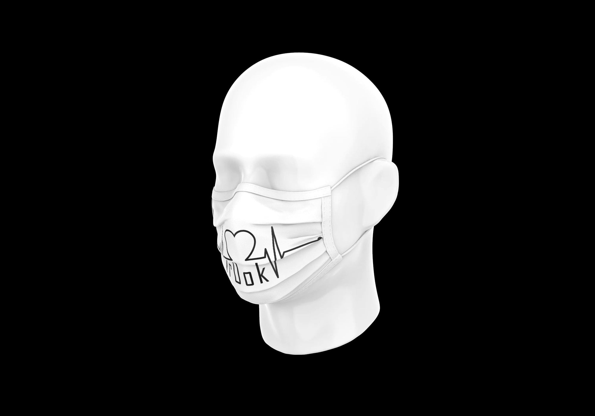 r0ok-clothing-co PULSE MASK - WHITE.
