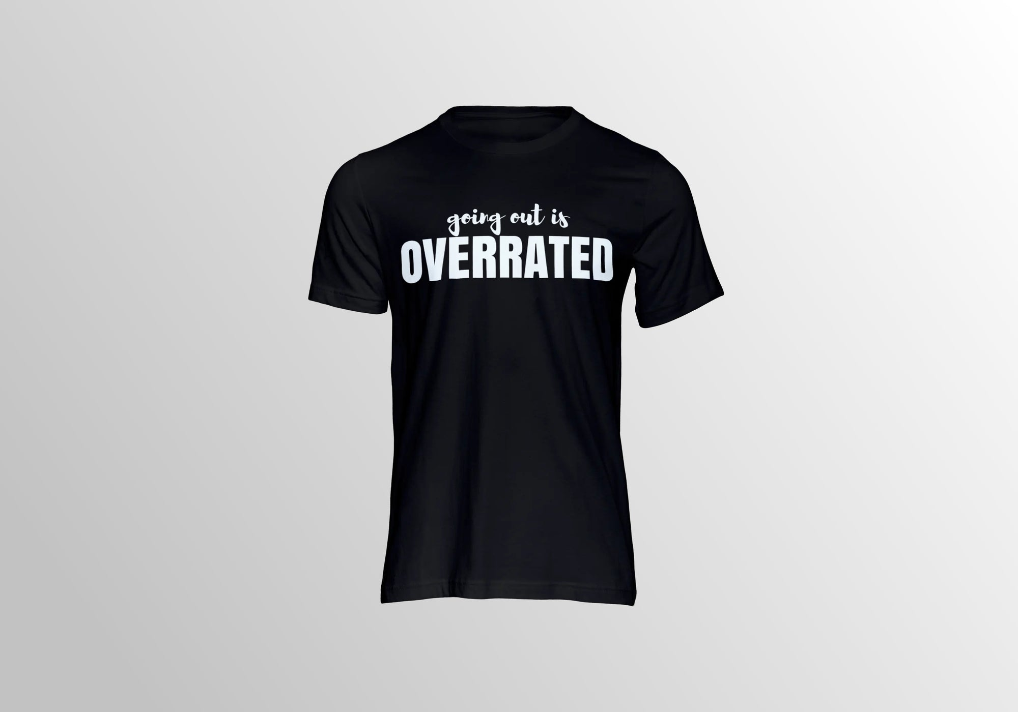 INTROVERT BLACK TEE