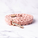 Load image into Gallery viewer, Baby Pink Macrame Dog Lead