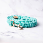 Load image into Gallery viewer, Aqua Macrame Dog Lead