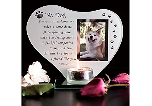 Dog Memorial Ornament with Glass