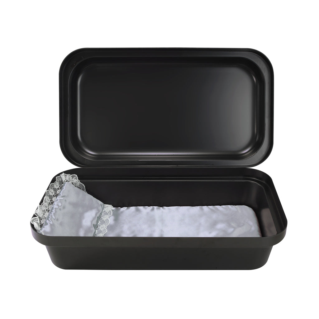 Classical Black/Silver Pet Casket