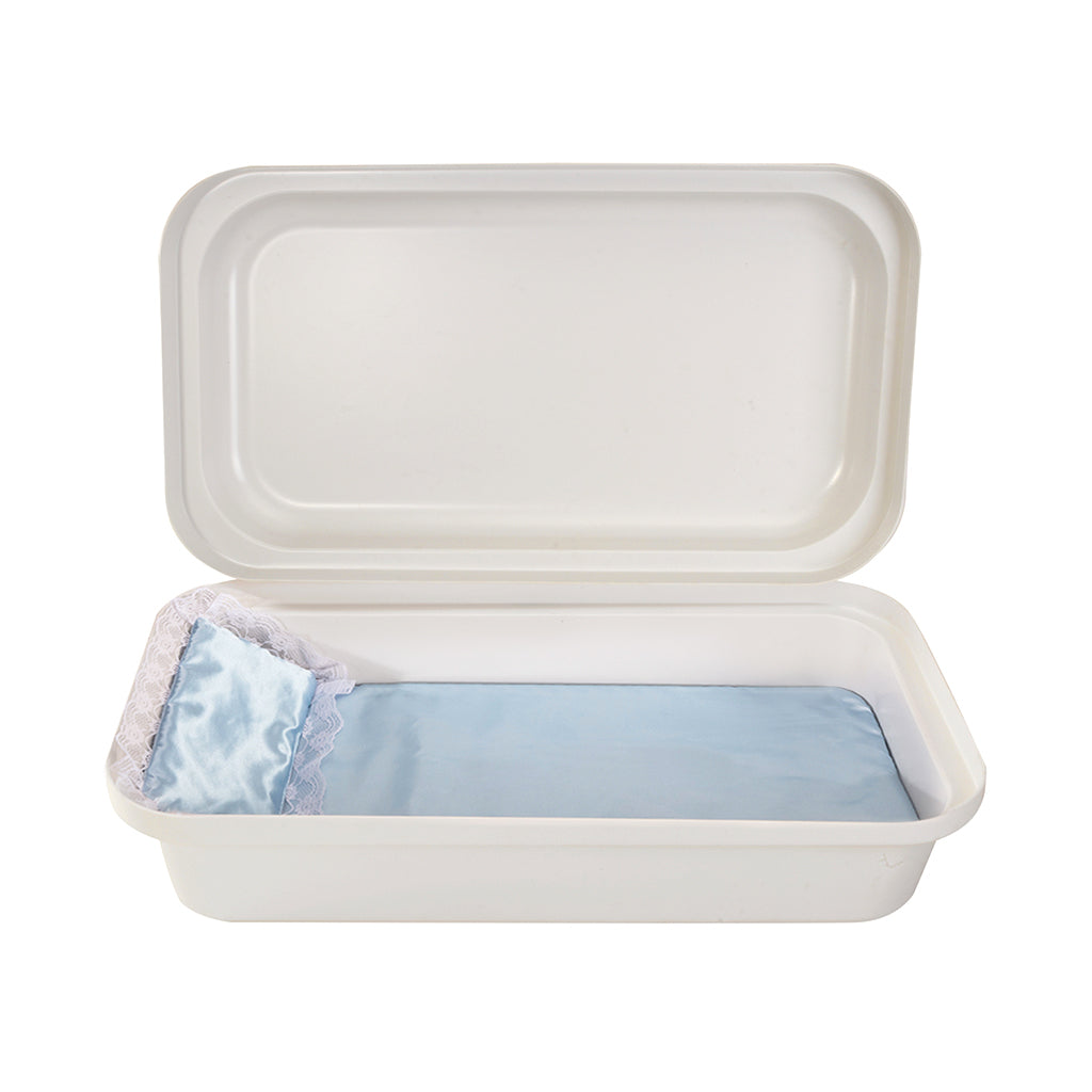 Classical White/Blue Pet Casket