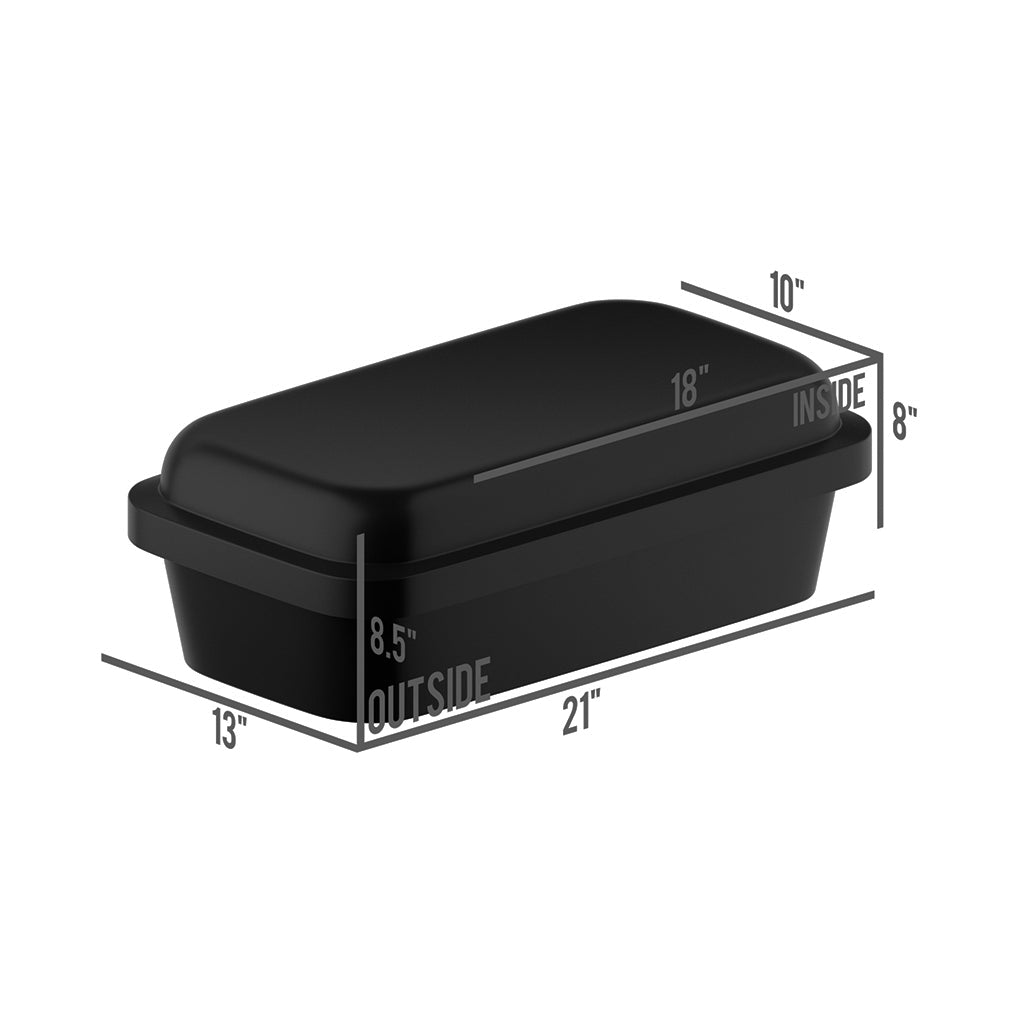 Classical Black/Silver Pet Burial Coffin