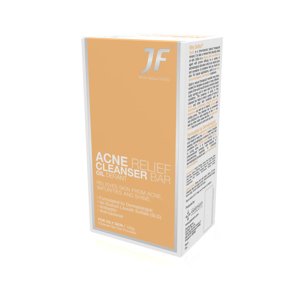 *JF Acne Relief Cleanser Bar for Oily Skin