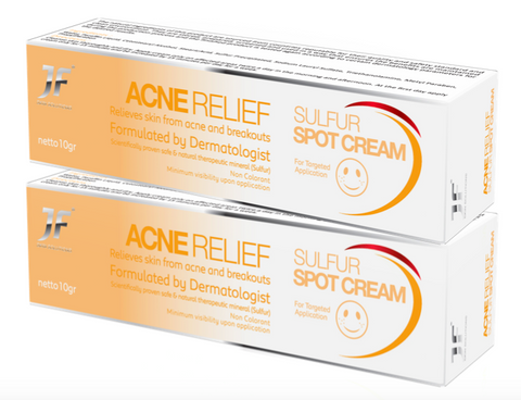 JF Acne Relief Sulfur Spot Cream '2pcs-Deal'
