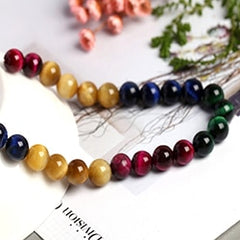 AAAAA+13Colors  Tiger Eye Stone Beads  Diy Accessories For  Handmade Jewelry Gemstone  Loose Beads Factory Dire