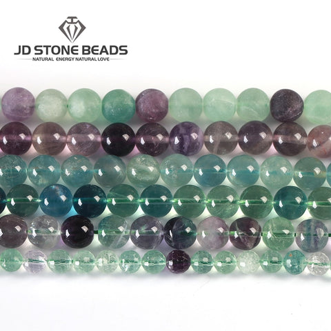 10 Colors Natural Colorful Fluorite Beads 4 6 8 10 12mm Pick Size High Quality Beads Ice Fluorite Gemstone For Jewelry Making