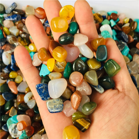 100g tumbled gemstone mixed stones natural rainbow   colorful rock mineral agate for chakra healing