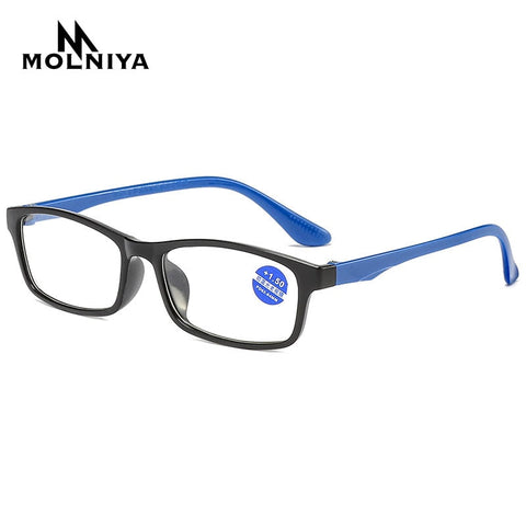 2020 Reading Glasses Men Anti Blue Rays Presbyopia Eyeglasses Antifatigue Computer Eyewear with +1.5 +2.0 +2.5 +3.0 +3.5 +4.0
