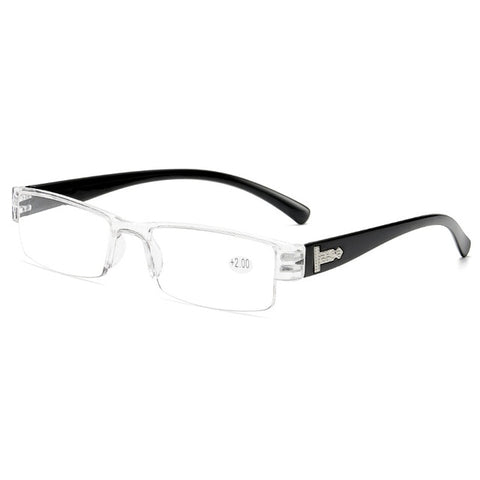 VCKA Square TR90 Reading Glasses Rimless Men Women Ultra-light Frameless  Spectacles1.5 2.0 2.5 3.0 3.5 4.0
