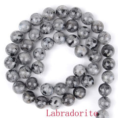 Wholesale Natural Round Beads Black Crazy Agates Labradorite Turquoises Sodalite Stone Beads For Jewelry Making Free Shipping