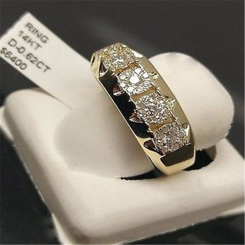 14k Gold Diamond Ring for Women To Join Party Peridot Gemstone Anillos De Wedding Diamante Engagement Jewelry Fashion Ring