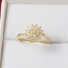 14K Yellow Gold 1.5 Carats Diamond Ring for Women Luxury Engagement Bizuteria Anillos Gemstone 14K Gold and Diamond Wedding Ring