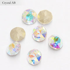 Pointback Crystal Loose Rhinestones for Clothes 20 Colors Mixed Gemstone Flower K9 Glass Strass Crystal Beads Glue on Nail Arts