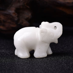 1PC Natural Crystal Rose Quartz Elephant Amethyst Obsidian Animals Stone Crafts Small Decoration Home Decor Christmas Present