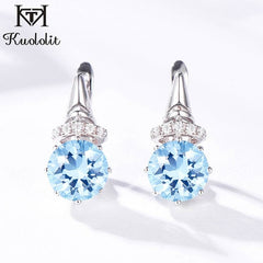 Kuololit Zultanite Gemstone Clip Earrings for Women Solid 925 Sterling Silver Color Change Diaspore Stone Earrings Fine Jewelry