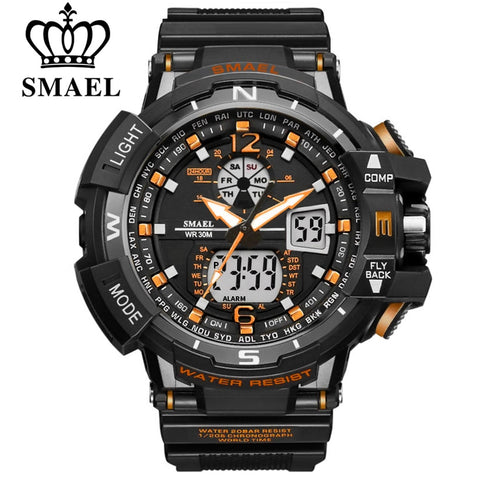 SMAEL Sport Watch Men 2020 Clock Male LED Digital Quartz Wrist Watches Men's Top Brand Luxury Digital-watch Relogio Masculino