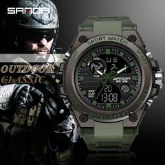 SANDA Brand G Style Men Digital Watch Shock Military Sports Watches Fashion Waterproof Electronic Wristwatch Mens 2020 Relogios