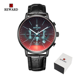 2020 New Fashion Color Bright Glass Watch Men Top Luxury Brand Chronograph Men's Stainless Steel Business Clock Men Wrist Watch