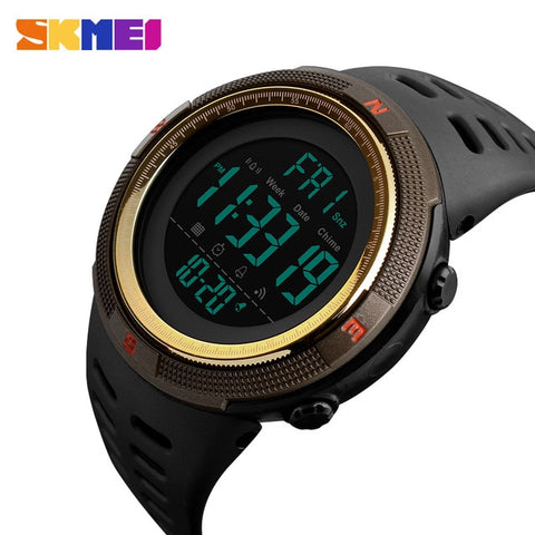 SKMEI Brand Men Sports Watches Fashion Chronos Countdown Men's Waterproof LED Digital Watch Man Military Clock Relogio Masculino