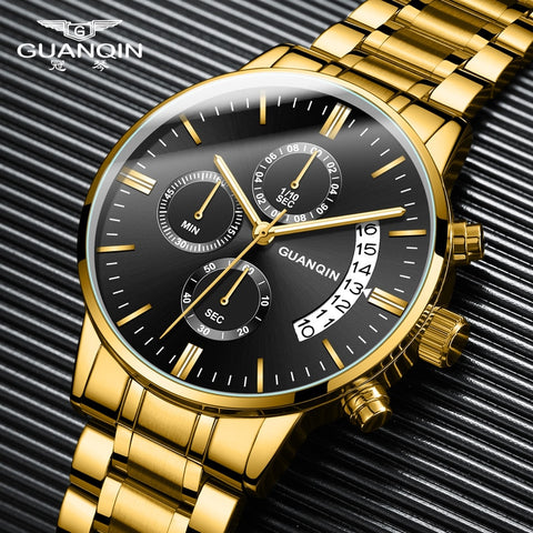 GUANQIN Relogio Masculino Men Watches Luxury Famous Top Brand Men's Fashion Casual Dress Watch Military Quartz Wristwatches Saat