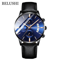 Men's Watch Luxury Brand BELUSHI High-end Man Business Casual Watches Mens Waterproof Sports Quartz Wristwatch relogio masculino