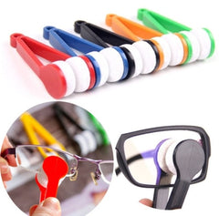 Handy Glasses Cleaner Tools F Random Color Super Fine Fiber Glasses Cleaner Rub Power with  lens Clothes Cleaner