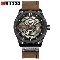 Luxury Watch Brand CURREN Men Military Sports Watches Men's Quartz Date Clock Man Casual Leather Wrist Watch Relogio Masculino