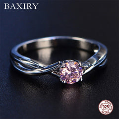 Trendy Gemstones Amethyst Silver Ring Blue Sapphire Ring Silver 925 Jewelry Aquamarine Rings For Women Engagement Rings