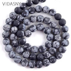 Natural Mix Gem Stone Dull Polished Sodalite Agates Crystal Beads For Jewelry Making 4-12mm Round Loose Beads Diy Bracelets 15''