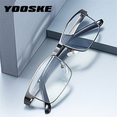 YOOSKE Stainless Steel Men Business Reading Glasses for Reader Mens Presbyopic optical Glasses  +1.0 1.5 2.0 2.5 3 3.5 4.0