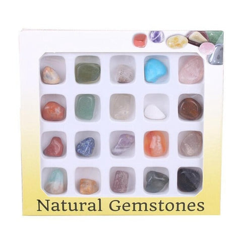 20Pcs Stones Crystals Natural And Mineral Stones DIY Multicolor Organic Material Mix Stones Decorations Crystal For Collection