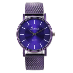Fashion Woman's Quartz Watch High-end Blue Glass Stylish Distinguished Ladies Watches Reloj Inteligente Mujer Zegarki Damskie