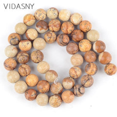 Natural Mix Mineral Gem Stone Agates Jades Tiger Eye Lava Round Beads For Jewelry Making 4-12mm Spacer Beads Diy Bracelets 15''