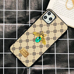 Luxury 3D Gemstone Bee Phone Case for iPhone 11 12 Pro Max 6 6s 7 8 Plus X XR Xs Max SE 2020 Fashion Glitter Jewelled Case