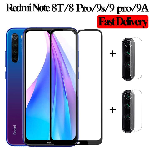 9A Camera Glass Redmi Note 9 Tempered Glass Screen Protector Xiaomi Redmi Note 9 s 9A Glass Film redmi note 7 8T glasses 8 9 pro