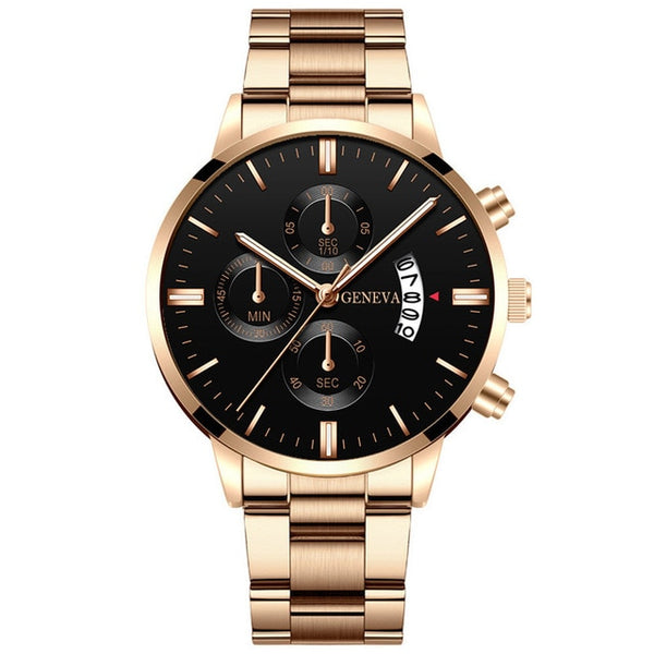 2020 Fashion Hot Style Trend Men's Stainless Steel Luxury Watch Calendar Quartz Watch Professional Casual Watch Men